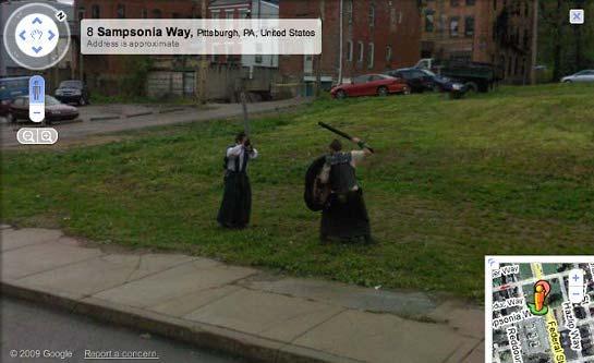 Google Street View Bombing